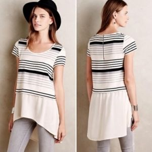Anthropologie | Deletta Striped High Low Tunic S